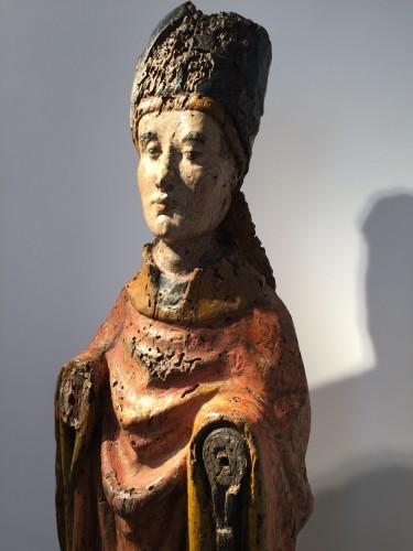 Antiquités - Holy Bishop (Rhine valley, 14th century)