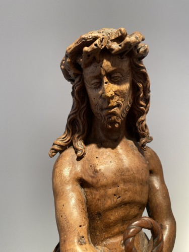 Christ on the cold stone (Brabant, ca 1500) - Religious Antiques Style Middle age