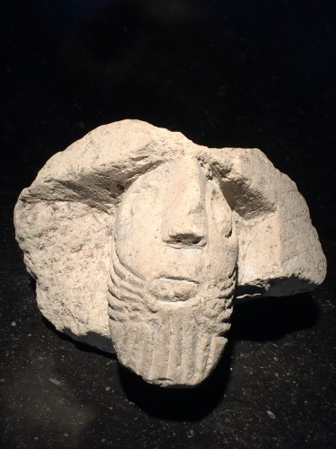 Bearded man (France, 13th cent) - Sculpture Style Middle age
