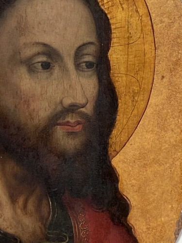 Christ 'Salvator Mundi (Flandres, 16th century) - Religious Antiques Style Renaissance