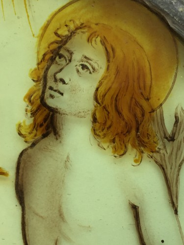 Stained Glass Roundel of Saint Sebastian (Flanders, ca 1500) -