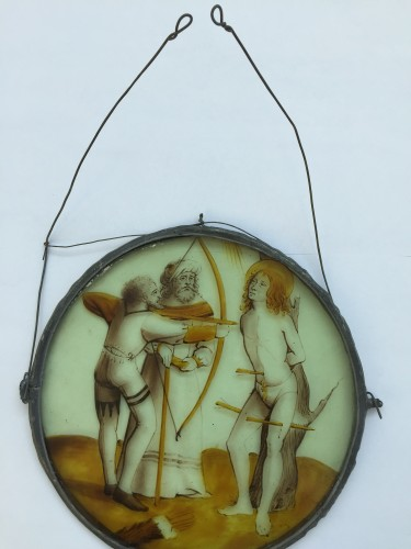 Renaissance - Stained Glass Roundel of Saint Sebastian (Flanders, ca 1500)