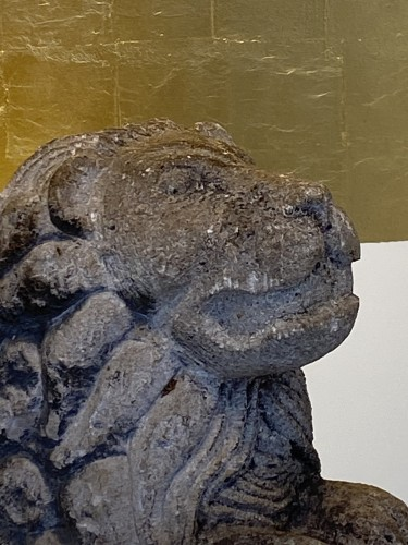 Antiquités - Limestone Lion, Italy 17th century