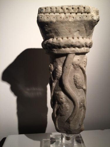 Marble column fragment (Italy, end of 12th cent) - Sculpture Style Middle age