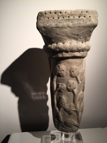 Sculpture  - Marble column fragment (Italy, end of 12th cent)