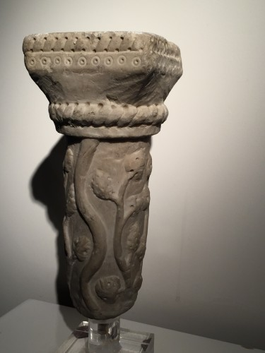 <= 16th century - Marble column fragment (Italy, end of 12th cent)