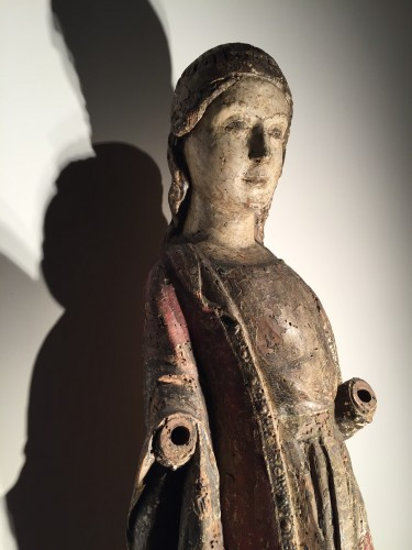 Antiquités - Female Saint (Italy, 15th century)