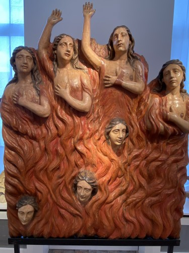 Sculpture  - Seven Souls in Purgatory (Spain, ca 1700) - Exceptional and monumental