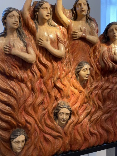 18th century - Seven Souls in Purgatory (Spain, ca 1700) - Exceptional and monumental
