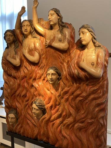- Seven Souls in Purgatory (Spain, ca 1700) - Exceptional and monumental