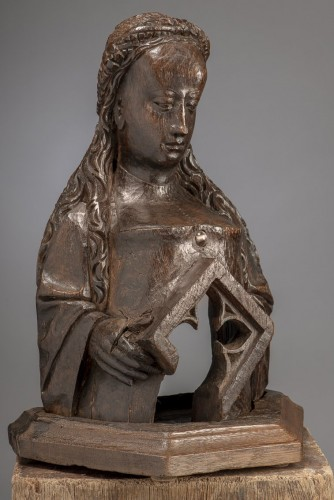 Reliquary Bust (Flanders, ca 1500) - Religious Antiques Style Middle age