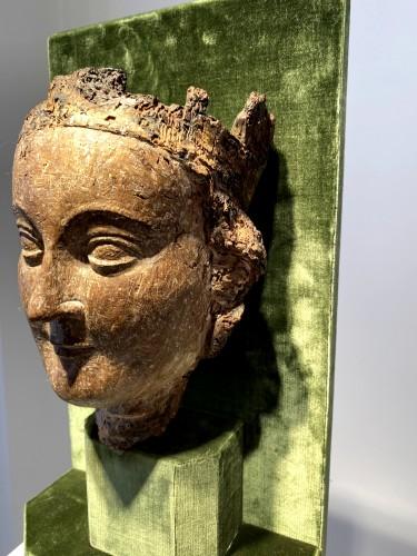 <= 16th century - Crowned Holy Virgin (Île-de-France, 13th cent)