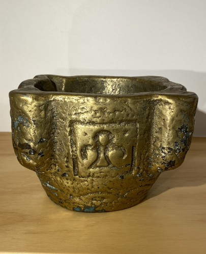 Brass Mortar, France 16th century - Collectibles Style Middle age