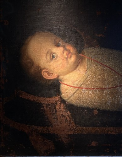 Commemorative Funerary Painting of a Swaddled Child (Italy, 17th cent.) -