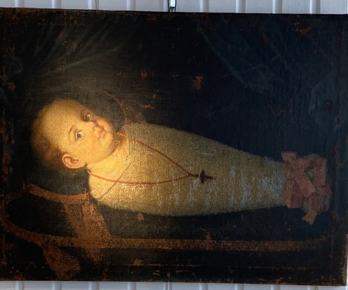 Commemorative Funerary Painting of a Swaddled Child (Italy, 17th cent.) - Renaissance