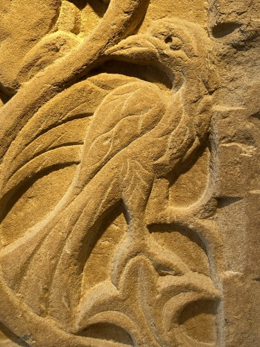 <= 16th century - Stele with Griffin and Bird (Italy, 13th cent)