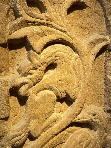 Middle age - Stele with Griffin and Bird (Italy, 13th cent)