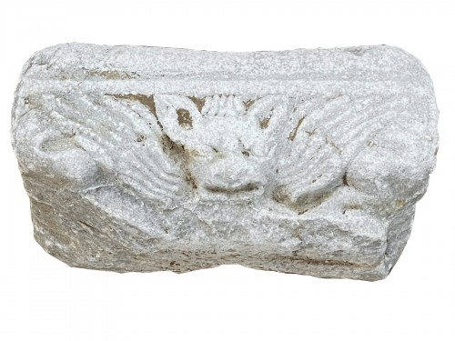Architectural element with Head of a Bat (Italy, 12th-13th)