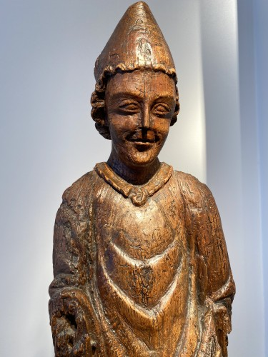<= 16th century - Enthroned Bishop - France, 14th century