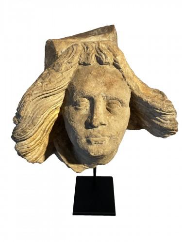 Head of an Angel - Germany, ca 1500