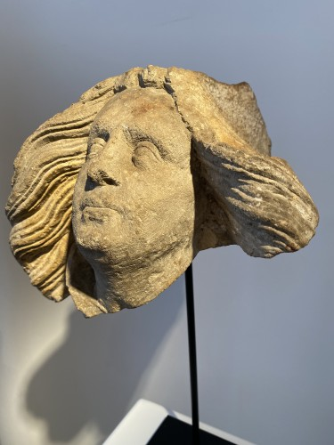 Sculpture  - Head of an Angel - Germany, ca 1500
