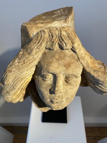 Head of an Angel - Germany, ca 1500 -