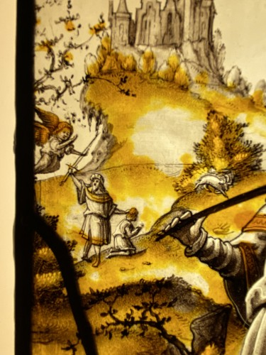 Renaissance - Stained Glass Abraham and Isaac - Flanders 16th century
