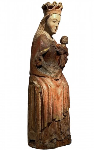 Enthroned Virgin with Child, France 14th century
