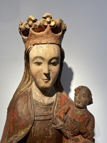Enthroned Virgin with Child, France 14th century -