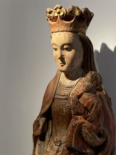 Enthroned Virgin with Child, France 14th century - Middle age