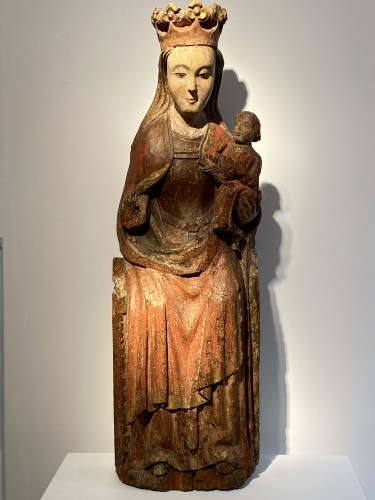 Middle age - Enthroned Virgin with Child, France 14th century