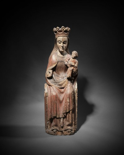 Antiquités - Enthroned Virgin with Child, France 14th century