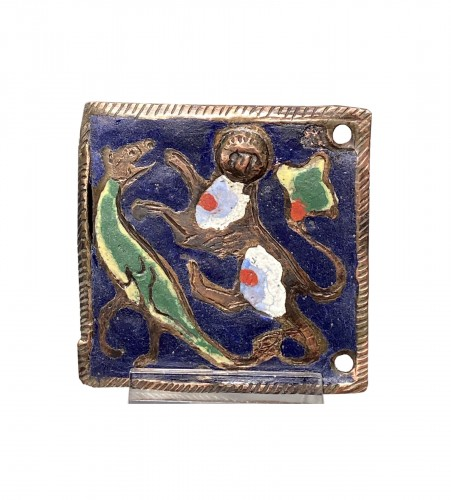 Enamel Belthook, France circa 1200