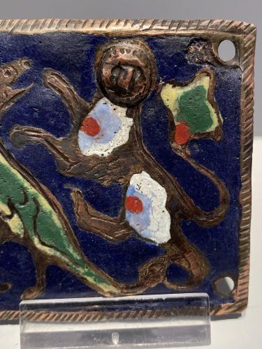 Enamel Belthook, France circa 1200 -