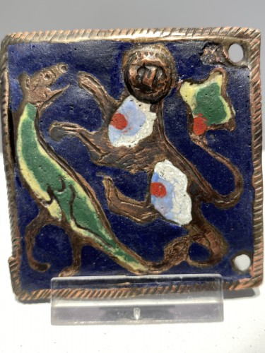 Enamel Belthook, France circa 1200 - Middle age