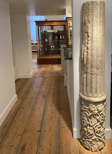Sculpture  - Large fragment of a Column, France 13th century