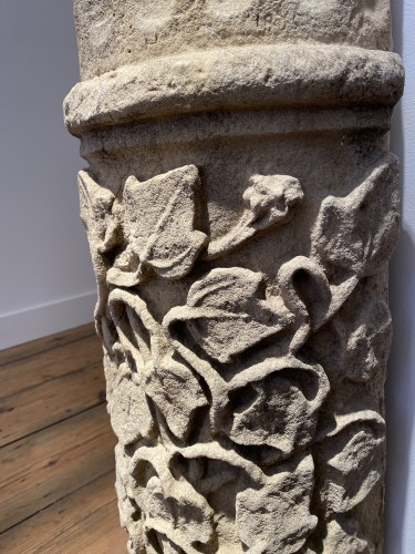 Large fragment of a Column, France 13th century -