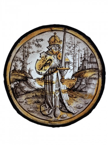 Roundel with Emperor Charlemagne, Germany, earl 16th century