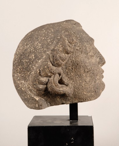 Sculpture  - Head of a Monk (France, 15th century)