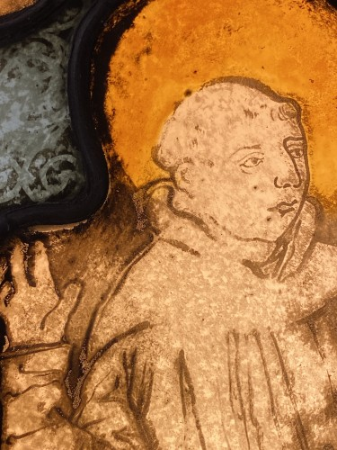 <= 16th century - Saint Francis Stained Glass (France, 16th cent)