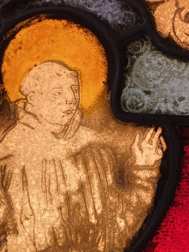 Saint Francis Stained Glass (France, 16th cent) - Middle age