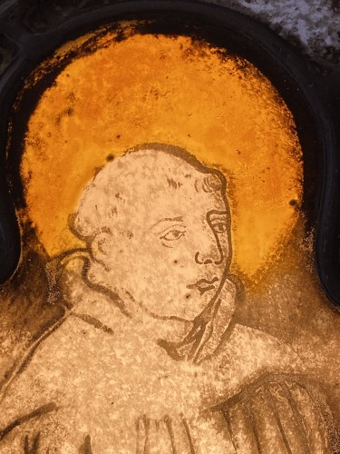 Middle age - Saint Francis Stained Glass (France, 16th cent)