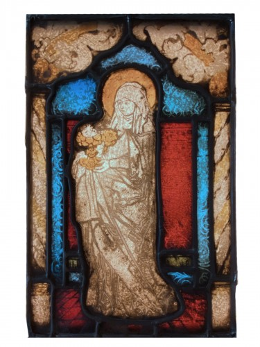 Mary Magdalene Stained Glass (France, 16th cent)