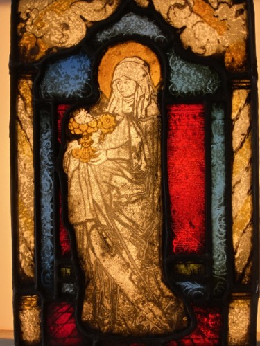 Mary Magdalene Stained Glass (France, 16th cent) -
