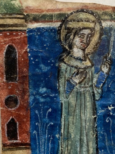 Paintings & Drawings  - Female Martyr (Italy, 1270-1280)