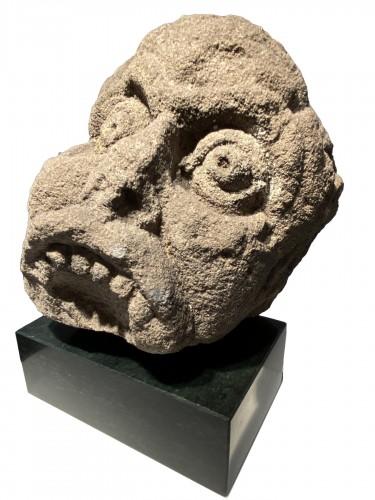 Head of a Grotesque (England, 13th century)
