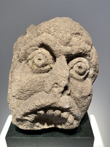 Head of a Grotesque (England, 13th century) - Sculpture Style Middle age