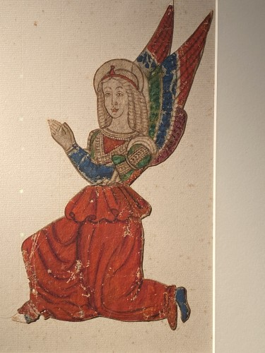 Paintings & Drawings  - Two angels, Tempera and ink on paper,  Italy 16th century