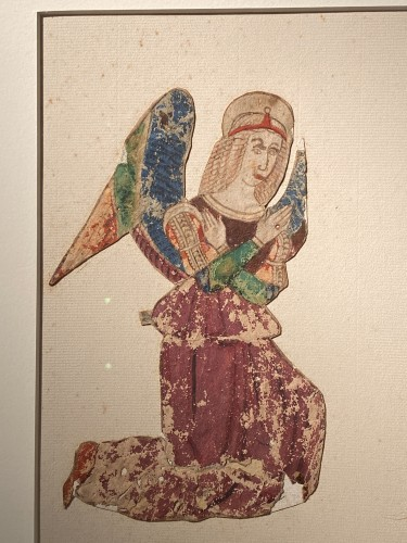 <= 16th century - Two angels, Tempera and ink on paper,  Italy 16th century
