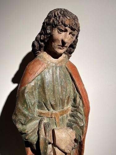 Saint John the Evangelist (Bohemia, lime, 15th) - Religious Antiques Style Renaissance